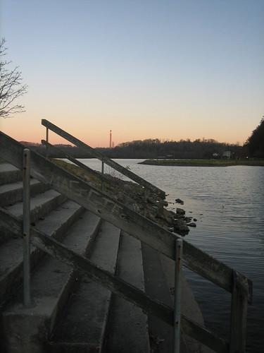 sunset stairs marina meltonhilllake bullrunsteamplant theparadigmshifter
