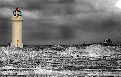 Lighthouse on the River Mersey, Liverpool