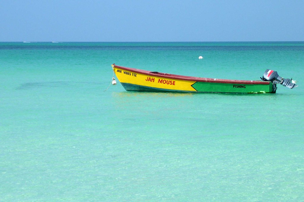 Fishing boat in Jamaica, Caribbean.