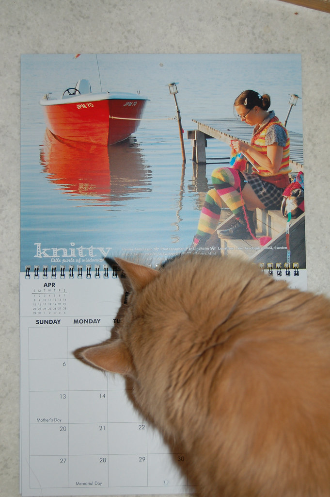 Jag är Maj  - I'm May Calendar Girl for Knitty
