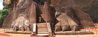 The lion gate at Sigiriya, Sri Lanka