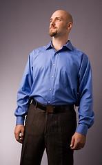 denim(0.0), clothing(1.0), collar(1.0), dress shirt(1.0), sleeve(1.0), pocket(1.0), blue(1.0),