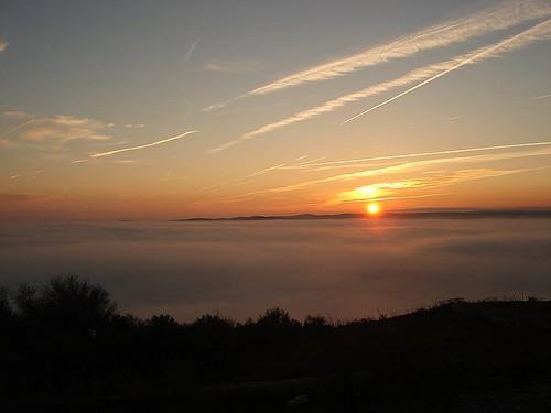 travel portugal fog da elvas forte graça nevoeiro