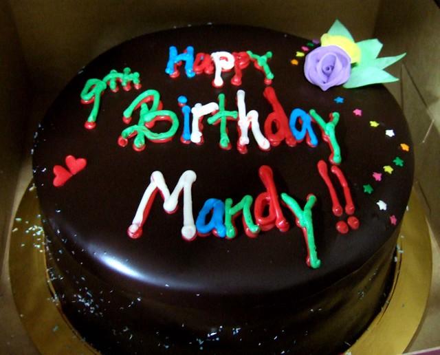 Mandy Birthday Cake