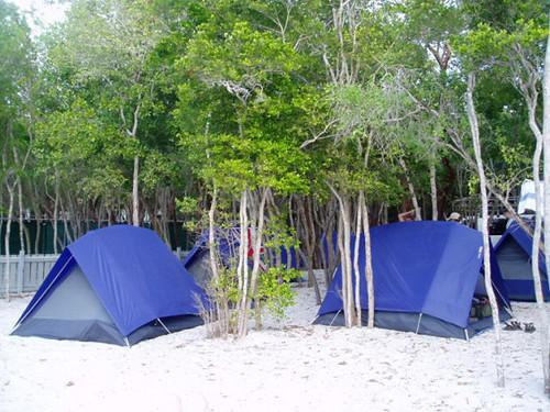 Camp site in Key Largo