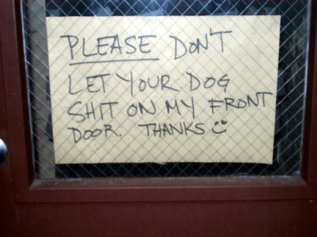 Funny Sign Outside Apartment Flickr Photo Sharing