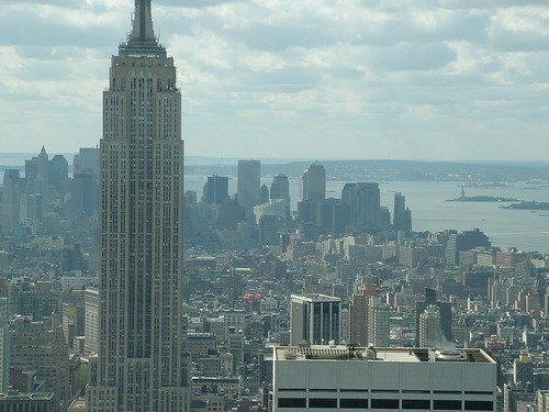 Empire State Building und Downtown Manhattan