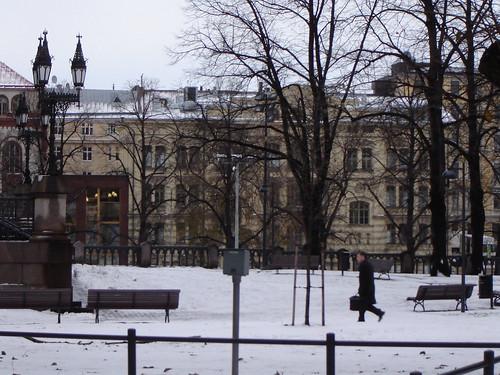 Johanneksen kirkon puisto, ensilumi