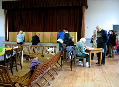 voting day in a small town