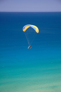 Paraglider at Rainbow Beach