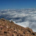 Vue du sommet de Pikes Peak