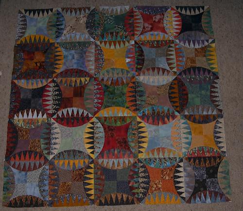 Indian Orange Peel Quilt - Work in Progress | Flickr ...