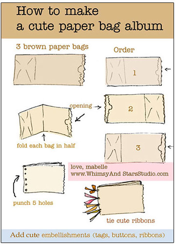How To Make A Book Cover Out Of Cardboard ~ Paper bag album how to make some cute albums