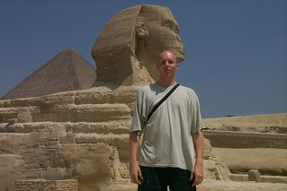 Me and the Great Sphinx at Giza, Egypt