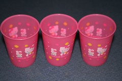 Hello Kitty plastic cups