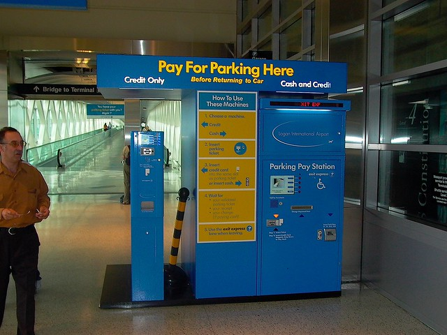 boston logan airport parking machines