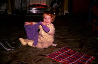 Ewen in living room