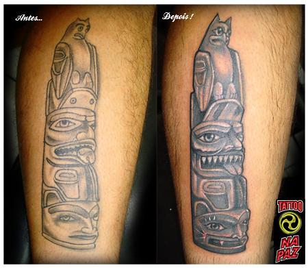 reforma da tatuagem do totem Essa foi feita em uma se o apenas