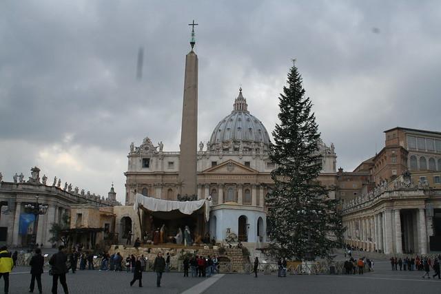 vatican nativity scene and tree flickr photo sharing
