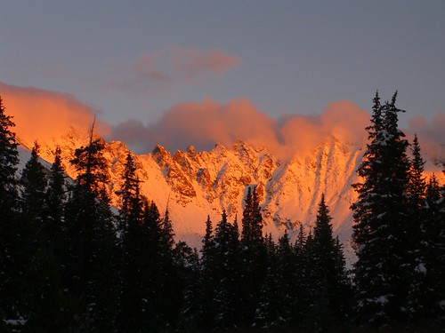sunset red mountains colorado atlanticpeak fletcherpeak