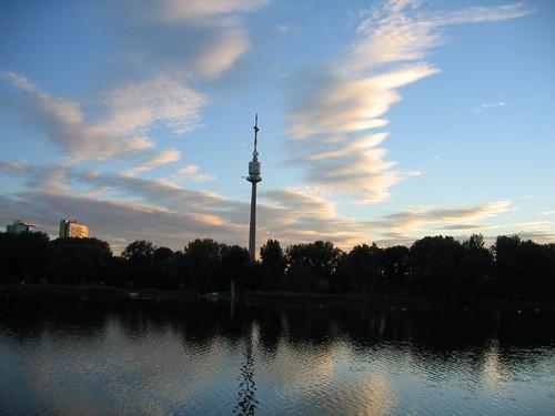 vienna wien sunset austria 奥地利 danubetower donauturm 维也纳