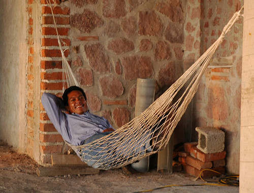 Builder relaxing in a hammock Puerto Vallarta top of Hillside by Wonderlane