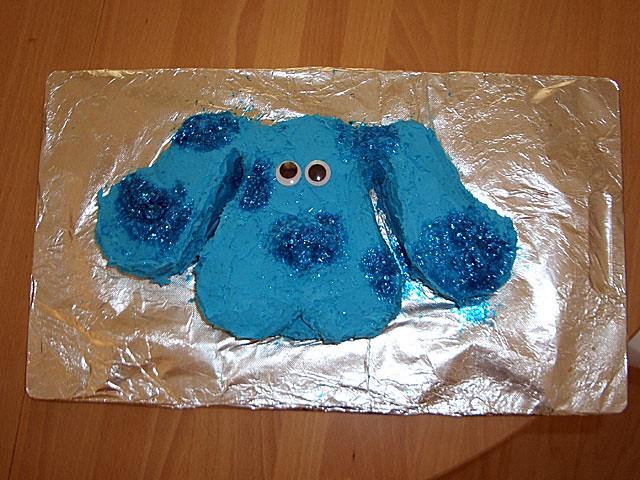 Header of blue cake