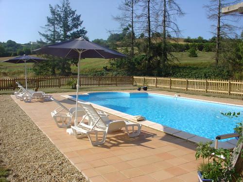 La Peyrecout - Swimming Pool towards Trees
