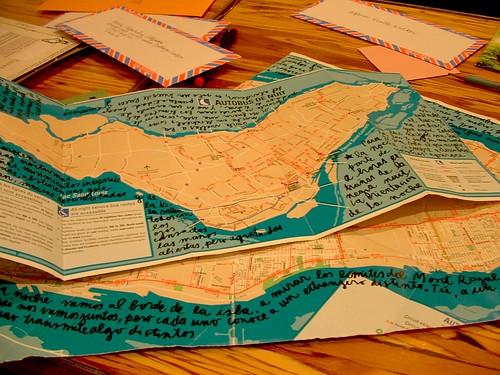 escritos sobre mapas