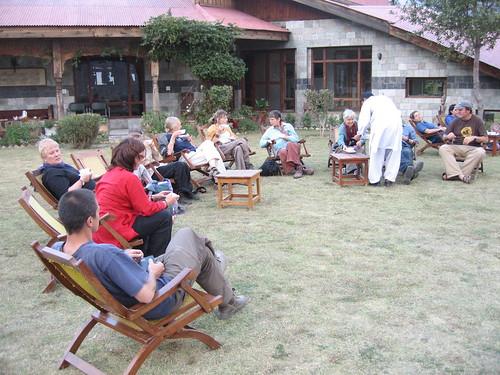 Tea on the lawn, Hindu Kush Heights, Chitral