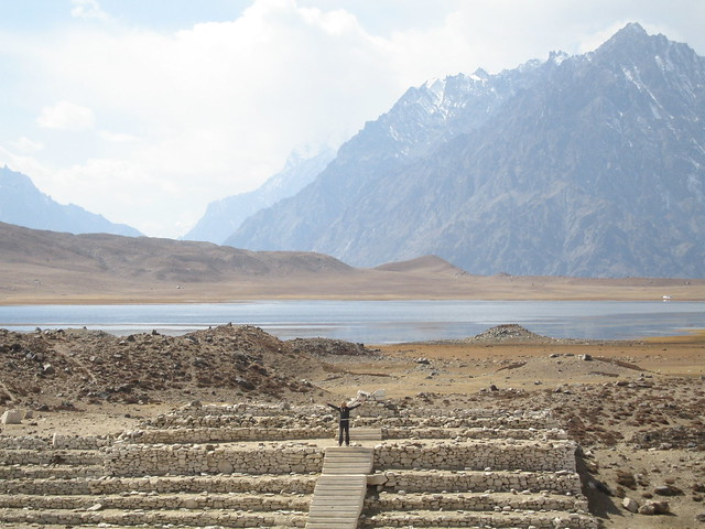 Me on the steps of the Shandur Pass polo ground seating