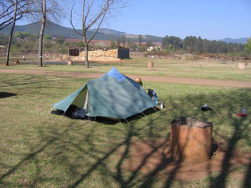 Camping at the Merry Pebbles site in Sabie, South Africa.