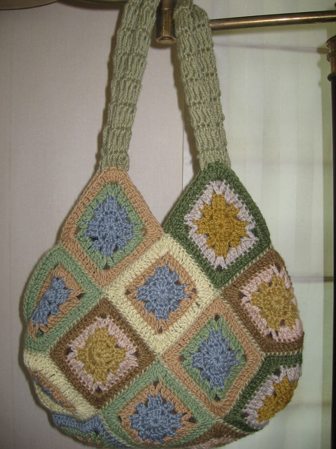 Crochet Hobo Bag : Large Crochet Hobo Bag