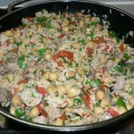 Lamb & chickpea rice pot