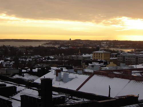 Aamurusko  marraskuussa. Sunrise in November.