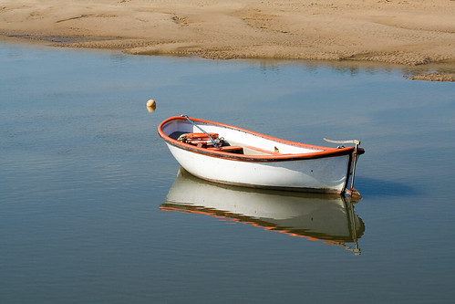 Small boat at Burnham Overy Staithe