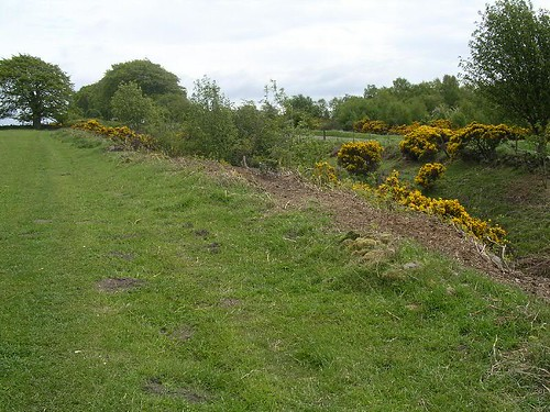 The Wall ditch near the site of Milecastle 25