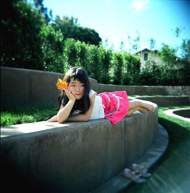 Teiko at the sculpture garden