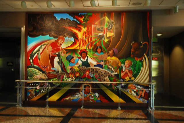 Denver international colorado airport murals flickr for Denver mural airport