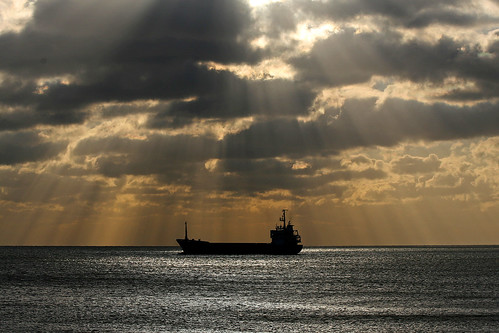 Ship in Sunbeams