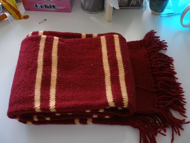Knit Harry Potter Scarf Pattern : Harry Potter Gryffindor Scarf (PoA Style) Gryffindor Scarf? Flickr - Phot...
