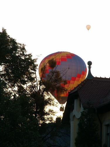 Heissluftballon sah in das Grüne Dresden 111