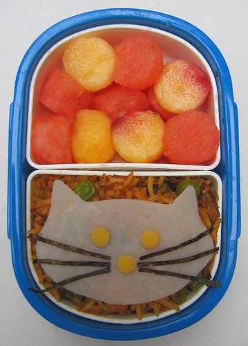 Kitty rice lunch for toddler