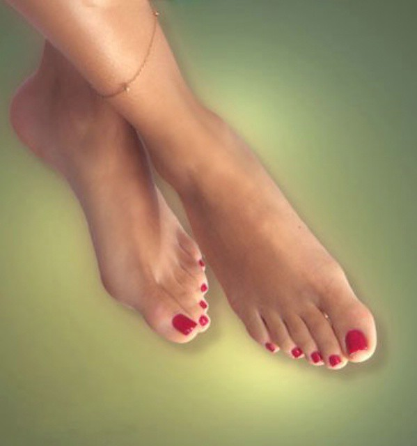 Foot fetish girl gina show her sexy pink nails feet 4
