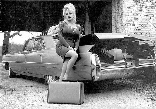 Dolly Parton & 64 Cadillac by classiccadillacchat