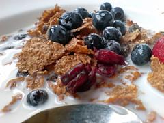 breakfast cereal, meal, breakfast, berry, brunch, produce, fruit, food, dish, dessert, muesli,