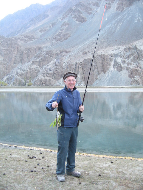 "Rob and ""his"" haul ot trout from the Gilgit river, Phander"