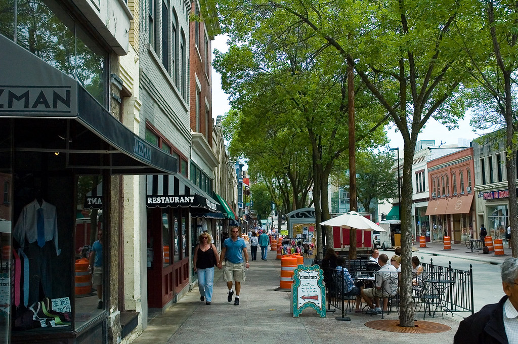 State Street is a pedestrian zone located in downtown Madison, Wisconsin, United States, near the Wisconsin State Capitol.