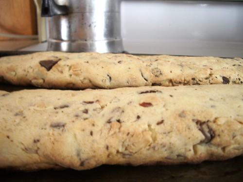 Chocolate-Dipped Peanut Biscotti