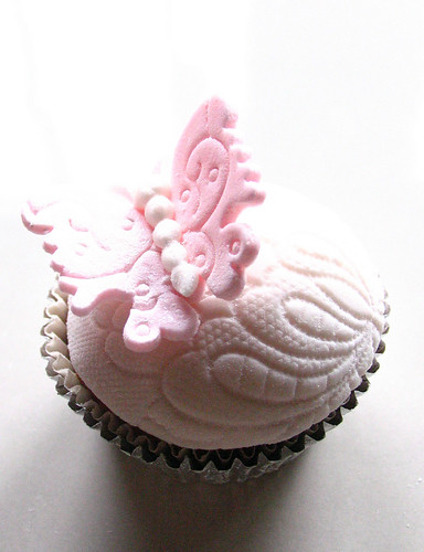 Pink Butterfly Lace Cupcake (From my signature collection)